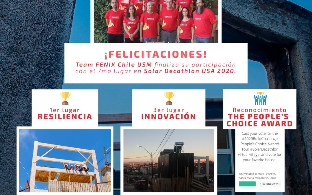 Team Chile USM FENIX 2.0: Gran Final en Solar Decathlon USA 2020